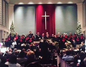 Syracuse Chorale Members Performing at Holiday Concert